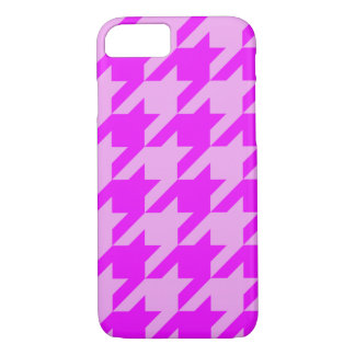 houndstooth 2 pink (I) iPhone 7 Case