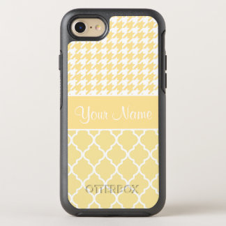 Houndstooth and Quatrefoil Yellow and White OtterBox Symmetry iPhone 8/7 Case