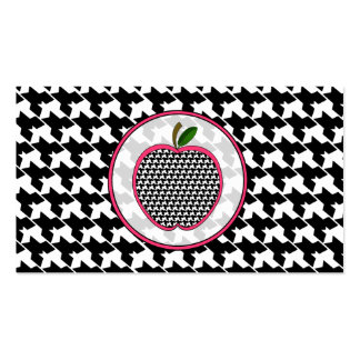 Houndstooth Apple Fashion Teacher Business Card