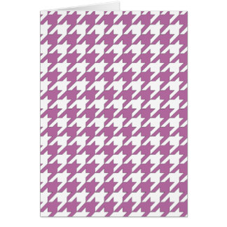 houndstooth bodacious and white card