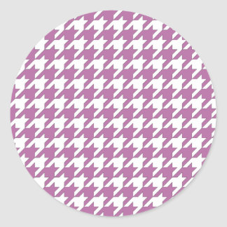 houndstooth bodacious and white classic round sticker