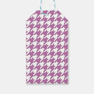 houndstooth bodacious and white gift tags