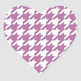 houndstooth bodacious and white heart sticker