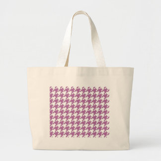 houndstooth bodacious and white large tote bag