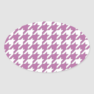houndstooth bodacious and white oval sticker