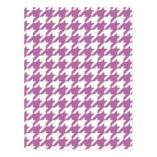 houndstooth bodacious and white postcard