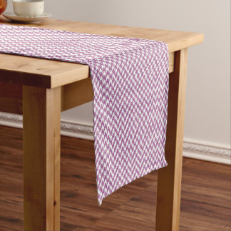 houndstooth bodacious and white short table runner