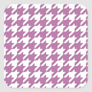 houndstooth bodacious and white square sticker