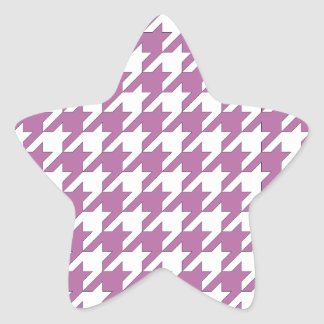 houndstooth bodacious and white star sticker