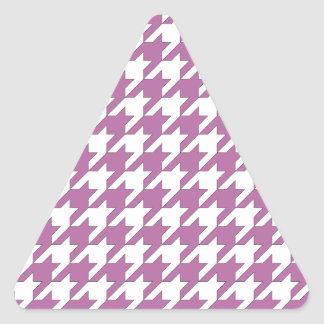 houndstooth bodacious and white triangle sticker