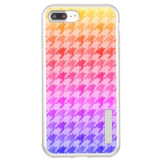 Houndstooth Bright Pink Lavender Ombre Incipio DualPro Shine iPhone 7 Plus Case