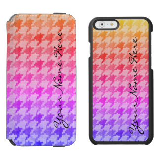Houndstooth Bright Pink Lavender Ombre Incipio Watson™ iPhone 6 Wallet Case