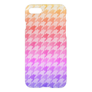 Houndstooth Bright Pink Lavender Ombre iPhone 8/7 Case