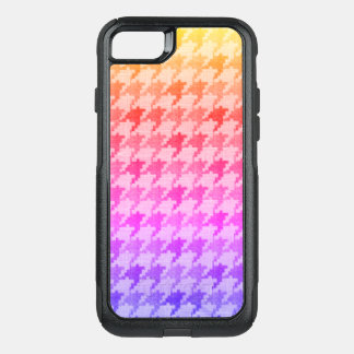 Houndstooth Bright Pink Lavender Ombre OtterBox Commuter iPhone 7 Case