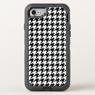 Houndstooth check pattern design background OtterBox defender iPhone 8/7 case