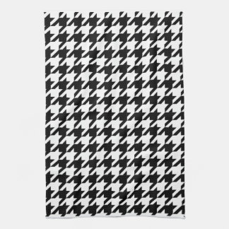 houndstooth check pattern kitchen towel