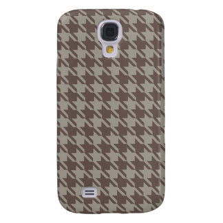 Houndstooth Checks Pattern in Grey Browns