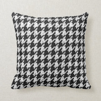 Houndstooth classic black and white toss pillow