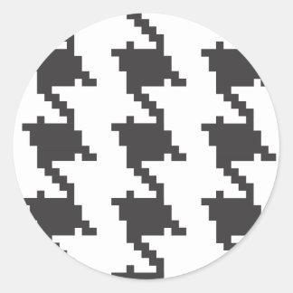 Houndstooth Classic Round Sticker