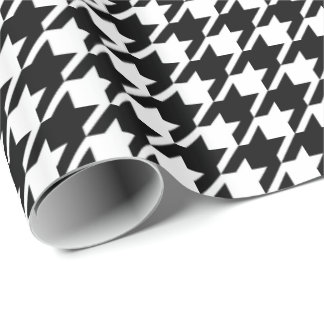 Houndstooth classic weaving pattern wrapping paper