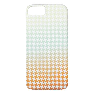 Houndstooth creamsiclish iPhone 7 case