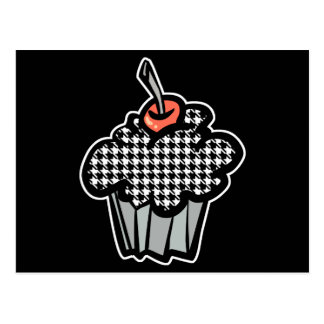houndstooth cupcake postcard