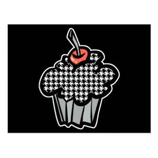 houndstooth cupcake postcard