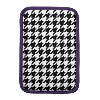 Houndstooth - Customize Background Color Sleeve For iPad Mini