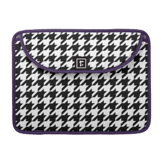 Houndstooth - Customize Background Color Sleeves For MacBook Pro