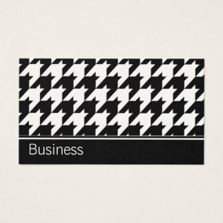 Houndstooth Elegant Retro Modern Stylish Classy Business Card