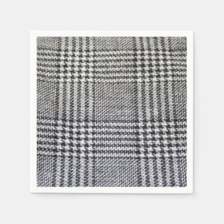 Houndstooth fabric paper napkins
