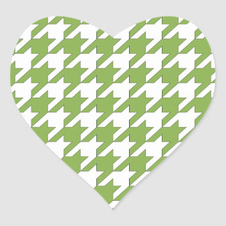 houndstooth greenery and white heart sticker