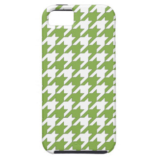 houndstooth greenery and white iPhone 5 cover