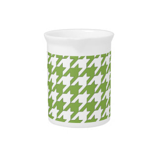 houndstooth greenery and white pitcher