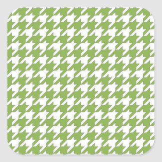 houndstooth greenery and white square sticker