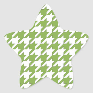 houndstooth greenery and white star sticker