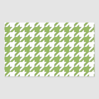 houndstooth greenery and white sticker