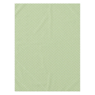 houndstooth greenery and white tablecloth