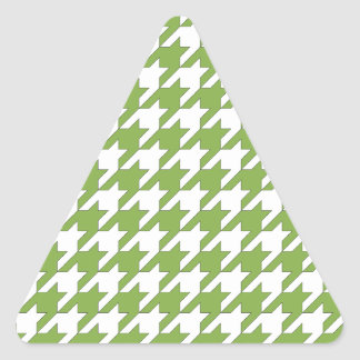 houndstooth greenery and white triangle sticker