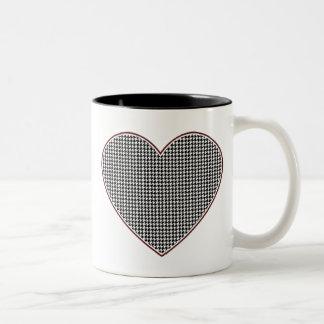 Houndstooth Heart (Tuscaloosa, Alabama) Two-Tone Coffee Mug