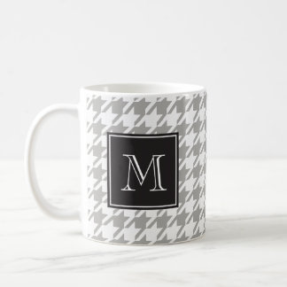 Houndstooth Monogram Choose Your Color Coffee Mug