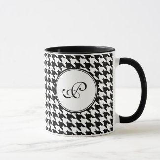 Houndstooth Monogram Mug