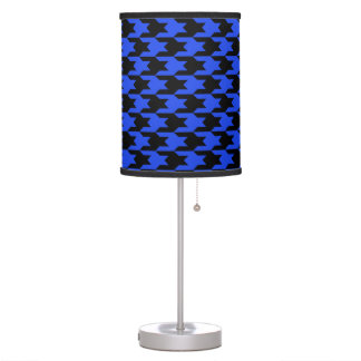 Houndstooth Pattern 1 Blue Table Lamp