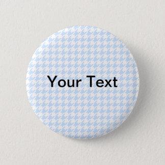 Houndstooth pattern - baby blue 2 inch round button