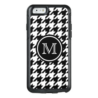 Houndstooth Pattern Black and White Monogram OtterBox iPhone 6/6s Case