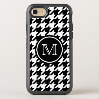 Houndstooth Pattern Black and White Monogram OtterBox Symmetry iPhone 7 Case