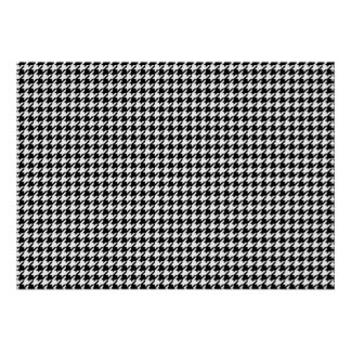 Houndstooth pattern - Black and white Poster