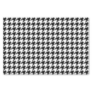 Houndstooth Pattern Black and White Tissue Paper