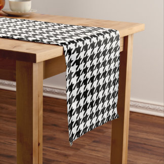 Houndstooth Pattern Custom Table Runner