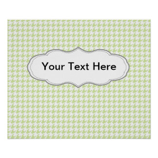 Houndstooth pattern - girly green poster